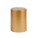 "Jeco CPZ-105 3 x 4"" Metallic Bronze Gold Pillar Candle"