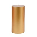 "Jeco CPZ-107 3 x 6"" Metallic Bronze Gold Pillar Candle"