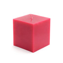 "Jeco CPZ-127_12 3 x 3"" Red Square Pillar Candles (12pcs/Case) Bulk"