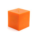 "Jeco CPZ-128 3 x 3"" Orange Square Pillar Candles"