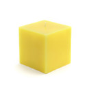 "Jeco CPZ-129 3 x 3"" Yellow Square Pillar Candles"