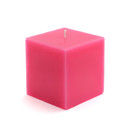 "Jeco CPZ-130_12 3 x 3"" Hot Pink Square Pillar Candles (12pcs/Case) Bulk"