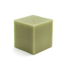 "Jeco CPZ-131_12 3 x 3"" Sage Green Square Pillar Candles (12pcs/Case) Bulk"