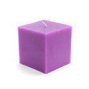 "Jeco CPZ-133_12 3 x 3"" Purple Square Pillar Candles (12pcs/Case) Bulk"