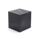 "Jeco CPZ-135 3 x 3"" Black Square Pillar Candles"