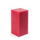 "Jeco CPZ-140_12 3 x 6"" Red Square Pillar Candle (12pcs/Case) Bulk"