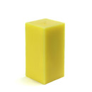 "Jeco CPZ-142_12 3 x 6"" Yellow Square Pillar Candle (12pcs/Case) Bulk"