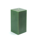 "Jeco CPZ-145 3 x 6"" Hunter Green Square Pillar Candle"