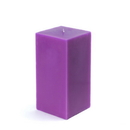 "Jeco CPZ-146 3 x 6"" Purple Square Pillar Candle"