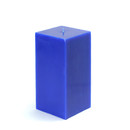 "Jeco CPZ-147 3 x 6"" Blue Square Pillar Candle"