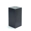 "Jeco CPZ-148 3 x 6"" Black Square Pillar Candle"