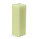 "Jeco CPZ-152 3 x 9"" Ivory Square Pillar Candle"