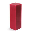 "Jeco CPZ-153_12 3 x 9"" Red Square Pillar Candle (12pcs/Case) Bulk"