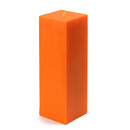 "Jeco CPZ-154 3 x 9"" Orange Square Pillar Candle"