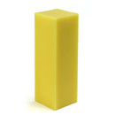 "Jeco CPZ-155_12 3 x 9"" Yellow Square Pillar Candle (12pcs/Case) Bulk"