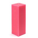 "Jeco CPZ-156 3 x 9"" Hot Pink Square Pillar Candle"