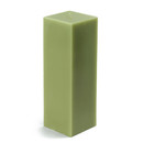 "Jeco CPZ-157_12 3 x 9"" Sage Green Square Pillar Candle (12pcs/Case) Bulk"