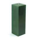 "Jeco CPZ-158_12 3 x 9"" Hunter Green Square Pillar Candle (12pcs/Case) Bulk"