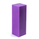 "Jeco CPZ-159_12 3 x 9"" Purple Square Pillar Candle (12pcs/Case) Bulk"