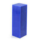"Jeco CPZ-160_12 3 x 9"" Blue Square Pillar Candle (12pcs/Case) Bulk"