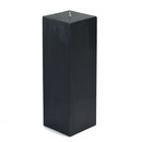 "Jeco CPZ-161 3 x 9"" Black Square Pillar Candle"
