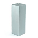 "Jeco CPZ-162_12 3 x 9"" Metallic Silver Square Pillar Candle (12pcs/Case) Bulk"