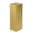 "Jeco CPZ-163_12 3 x 9"" Metallic Bronze Gold Square Pillar Candle (12pcs/Case) Bulk"