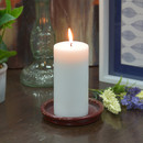 Jeco CPZ-173_6 3 x 4 Inch White Pillar Candles - Set of 6