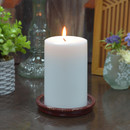 Jeco CPZ-174_12 3 x 6 Inch White Pillar Candle - Set of 12