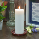 Jeco CPZ-175_4 3 x 8 Inch White Pillar Candles - Set of 4
