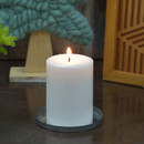 Jeco CPZ-176_4 4 x 6 Inch White Pillar Candles - Set of 4