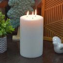 Jeco CPZ-177_4 5 x 8 Inch White Pillar Candle - Set of 4