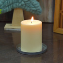 Jeco CPZ-178_24 3 x 4 Inch Ivory Pillar Candles - Set of 24