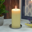 Jeco CPZ-179 3 x 6 Inch Ivory Pillar Candle