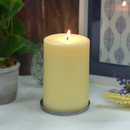 Jeco CPZ-181 4 x 6 Inch Ivory Pillar Candle