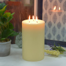 Jeco CPZ-182_4 5 x 8 Inch Ivory Pillar Candle - Set of 4
