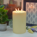 Jeco CPZ-183_4 6 x 9 Inch Ivory Pillar Candle - Set of 4