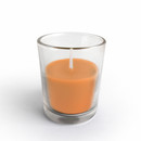 Jeco CVZ-019 Orange Round Glass Votive Candles (12pc/Box)