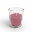 Jeco CVZ-020 Red Round Glass Votive Candles (12pc/Box)