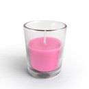 Jeco CVZ-021 Hot Pink Round Glass Votive Candles (12pc/Box)