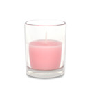 Jeco CVZ-022 Light Rose Round Glass Votive Candles (12pc/Box)