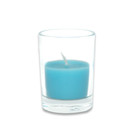 Jeco CVZ-024 Turquoise Round Glass Votive Candles (12pc/Box)