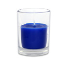 Jeco CVZ-027 Blue Round Glass Votive Candles (12pc/Box)