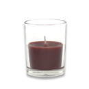 Jeco CVZ-028 Brown Round Glass Votive Candles (12pc/Box)