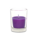 Jeco CVZ-029 Purple Round Glass Votive Candles (12pc/Box)