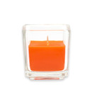 Jeco CVZ-033 Orange Square Glass Votive Candles (12pc/Box)