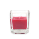 Jeco CVZ-034 Red Square Glass Votive Candles (12pc/Box)