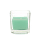 Jeco CVZ-037 Aqua Square Glass Votive Candles (12pc/Box)