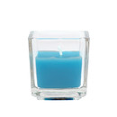 Jeco CVZ-038 Turquoise Square Glass Votive Candles (12pc/Box)