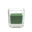 Jeco CVZ-040 Hunter Green Square Glass Votive Candles (12pc/Box)